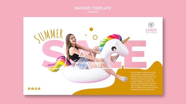 Szablon transparent lato sprzedaż