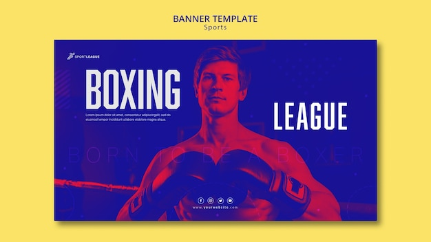 Szablon transparent ligi bokserskiej