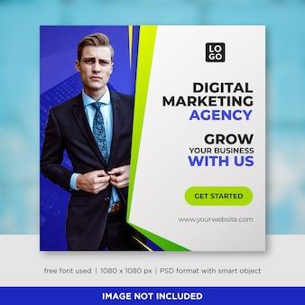 Szablon transparent mediów społecznościowych firmy