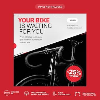 Szablon transparent mediów społecznościowych rower