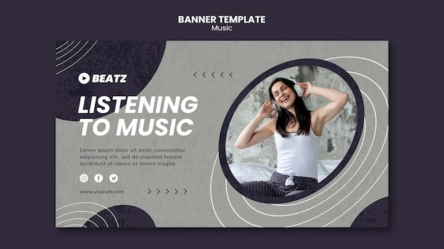 Szablon transparent muzyki