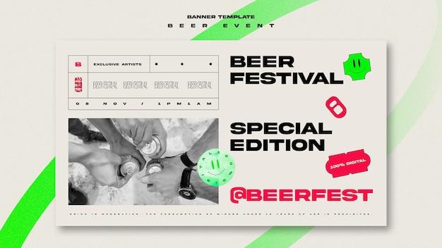 Szablon transparent na festiwal piwa