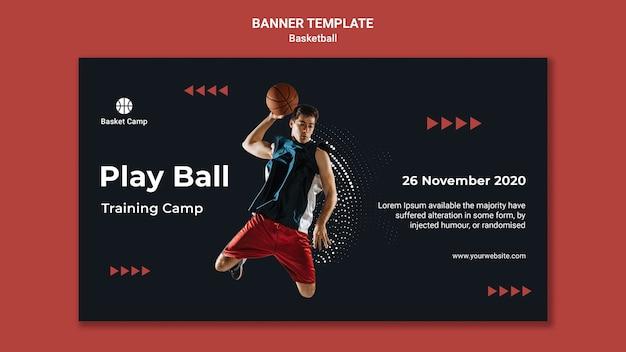 Szablon transparent na obóz treningowy koszykówki