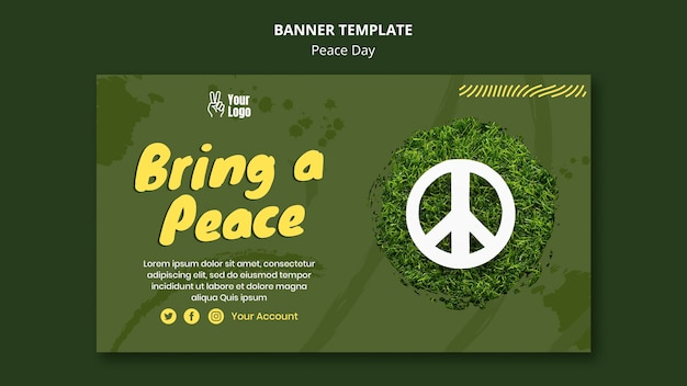 Szablon transparent na światowy dzień pokoju