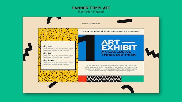 Szablon transparent na wystawę sztuki