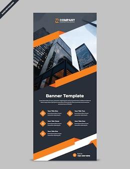 Szablon transparent nowoczesny rollup dla profesjonalnego biznesu i reklamy