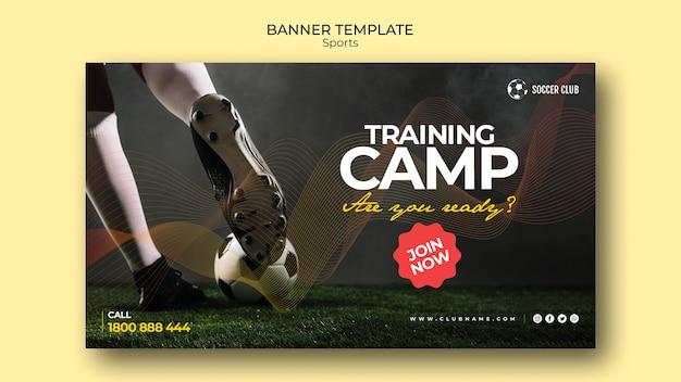Szablon transparent obozu klub piłkarski szkolenia