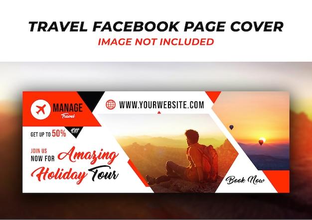 Szablon transparent okładka na osi czasu podróży na facebooku