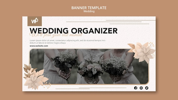 Szablon transparent organizator ślubu