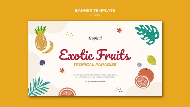 Szablon transparent owoce tropikalne