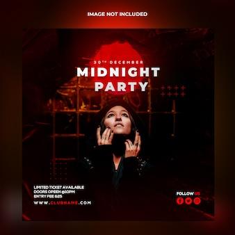 Szablon transparent party o północy