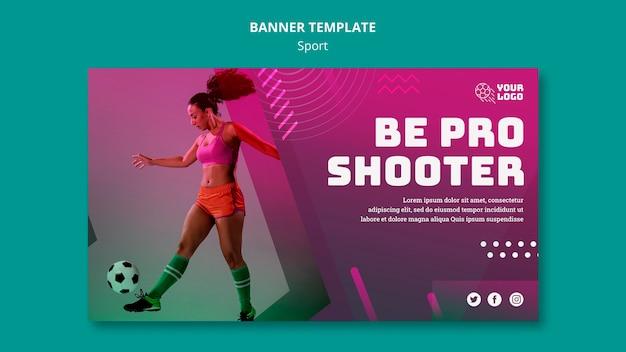 Szablon transparent piłka nożna reklama szkolenia