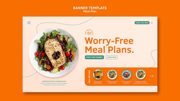 Szablon transparent plany posiłków