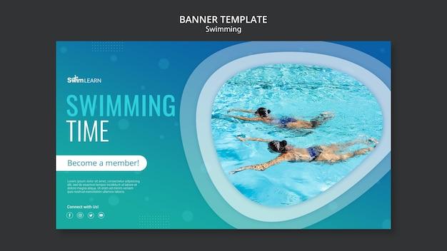 Szablon transparent pływanie ze zdjęciem