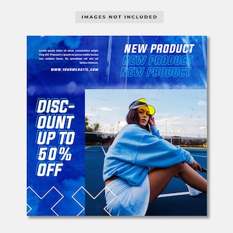 Szablon Transparent Postu Na Instagramie W Stylu Streetwear Premium Psd