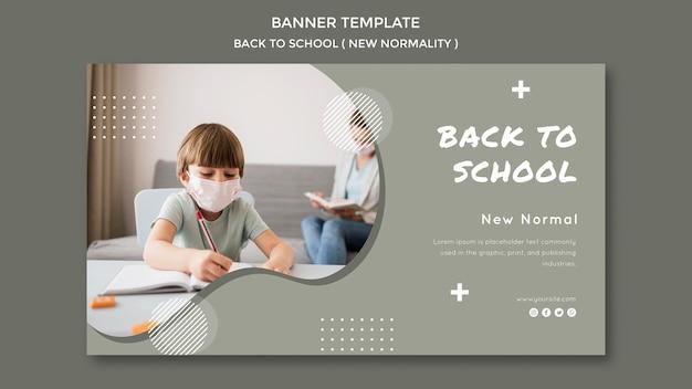 Szablon transparent powrót do szkoły
