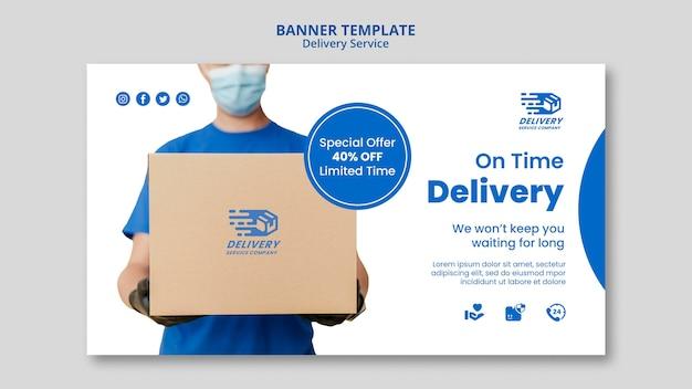 Szablon transparent poziome usługi dostawy