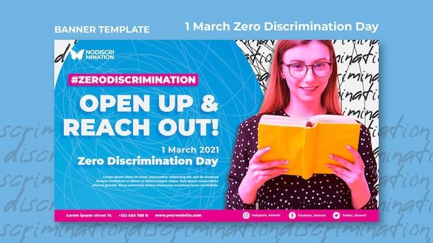 Szablon transparent poziomy zero dyskryminacji dzień