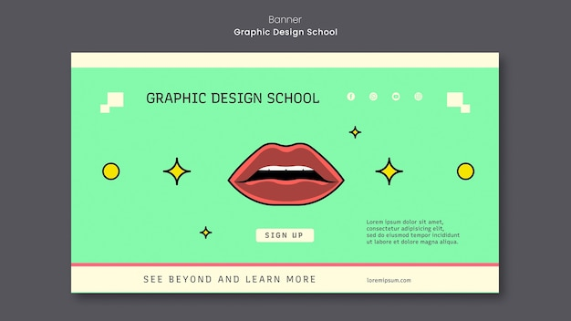 Szablon transparent projekt graficzny szkoły