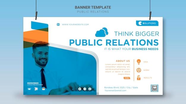 Szablon transparent public relations
