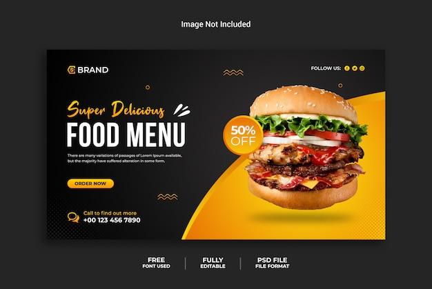 Szablon transparent restauracji burger