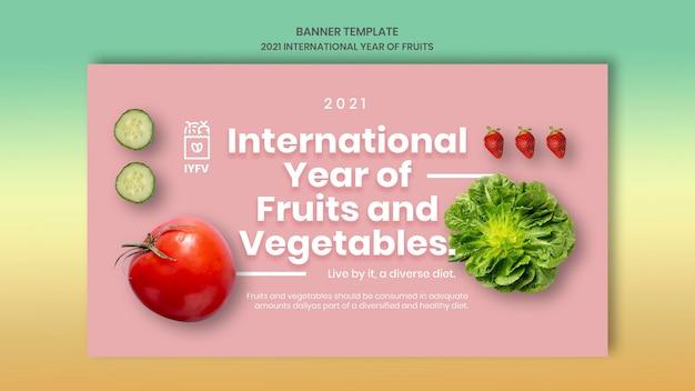 Szablon transparent rok owoce i warzywa