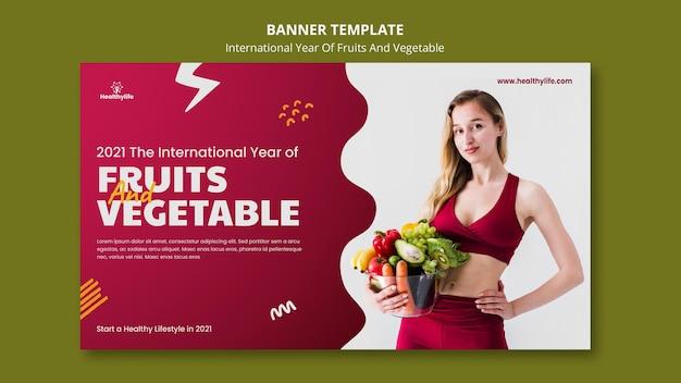Szablon transparent rok owoców i warzyw