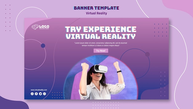 Szablon transparent rzeczywistości wirtualnej