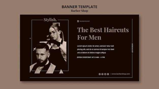 Szablon transparent sklep fryzjerski
