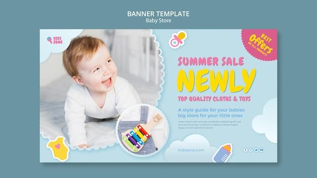 Szablon transparent sklepu dla dzieci