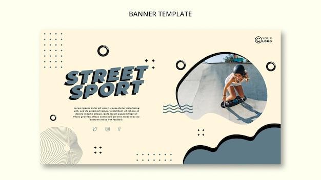 Szablon transparent sportu ulicznego