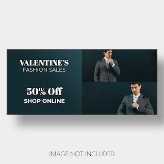 Szablon transparent sprzedaży Walentynki