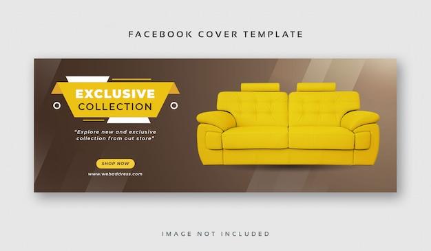 Szablon transparent sprzedaż mebli na facebooku