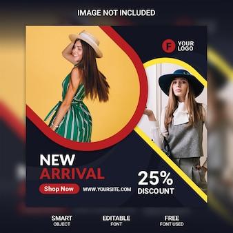 Szablon transparent sprzedaż mediów społecznościowych moda