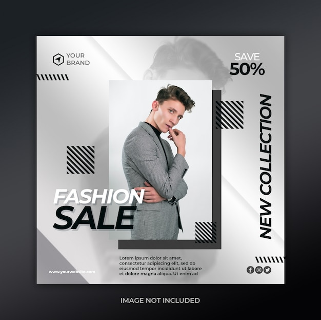 Szablon transparent sprzedaż moda