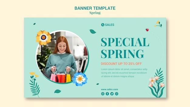 Szablon transparent sprzedaż wiosna