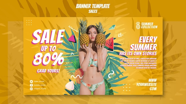 Szablon transparent sprzedaży letniej
