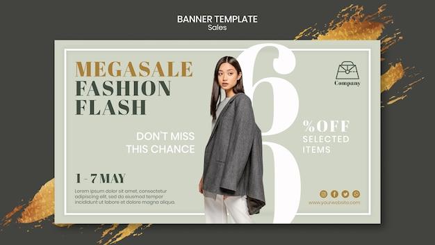 Szablon transparent sprzedaży mody