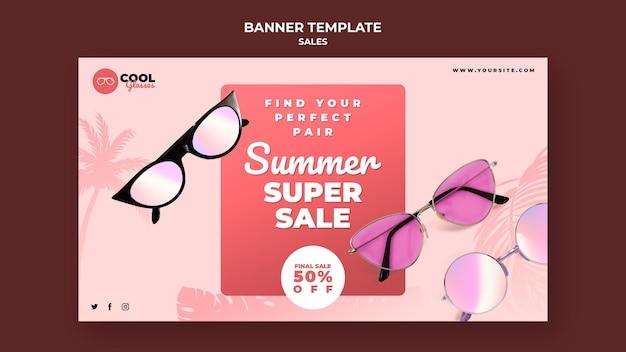 Szablon transparent sprzedaży okularów