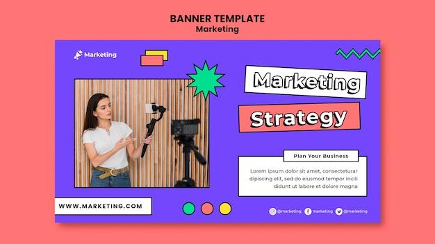 Szablon transparent strategii marketingowej
