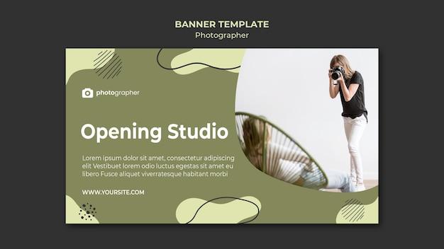 Szablon transparent studio fotograf