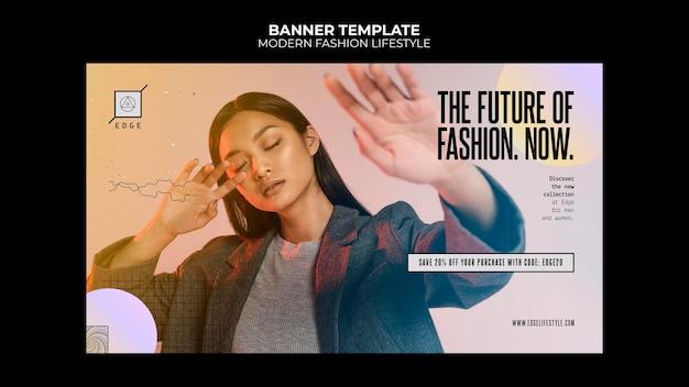 Szablon transparent styl życia nowoczesnej mody