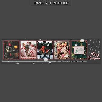 Szablon transparent świąteczne i szczęśliwego nowego roku i makieta zdjęć