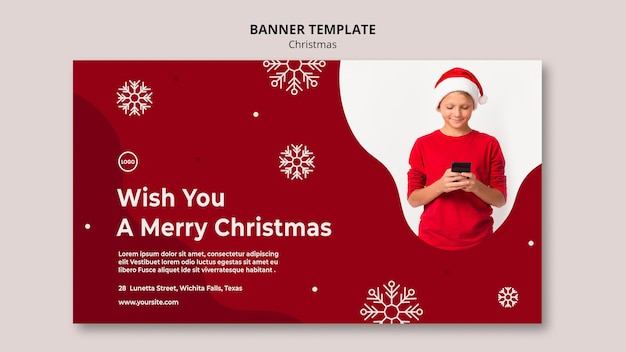 Szablon transparent świątecznej sprzedaży