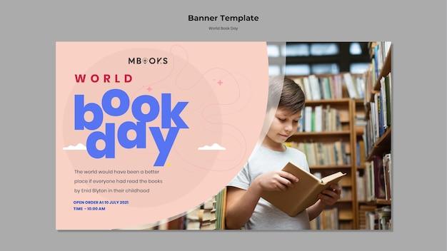 Szablon transparent światowego dnia książki