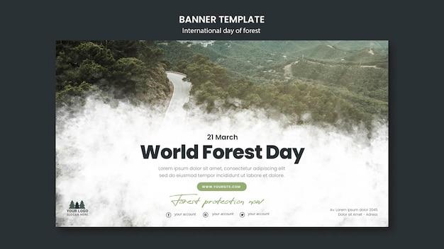 Szablon transparent światowego dnia lasu