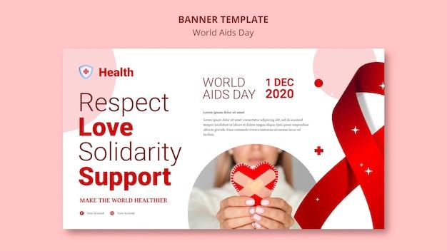 Szablon transparent światowego dnia pomocy