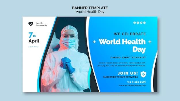 Szablon Transparent światowego Dnia Zdrowia Darmowe Psd