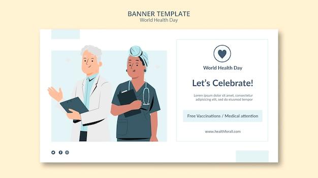 Szablon transparent światowego dnia zdrowia