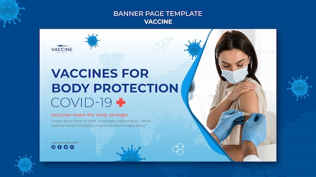 Szablon transparent szczepionki